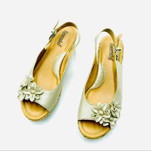 "Bjorndal Daphne Leather 2"" Heeled Sandals, Size 7M"